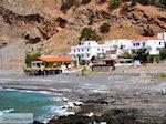 Uitzicht op het strand van Agia Roumeli   Chania Kreta   Griekenland