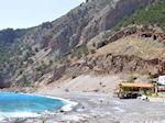 Het zand- kiezelstrand van Agia Roumeli foto 1 | Chania Kreta | Griekenland